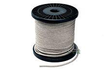 "5 ft .110"" (2.8mm) dia. Braided Speaker Tinsel Lead Wire  4650 watts"