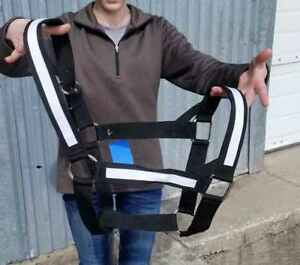 BLACK COBB Size Nylon Neoprene Lined Halter w// Glitter Overlay NEW HORSE TACK!
