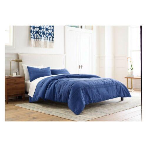 3pc THRESHOLD Eyelet 100% Cotton Comforter Set