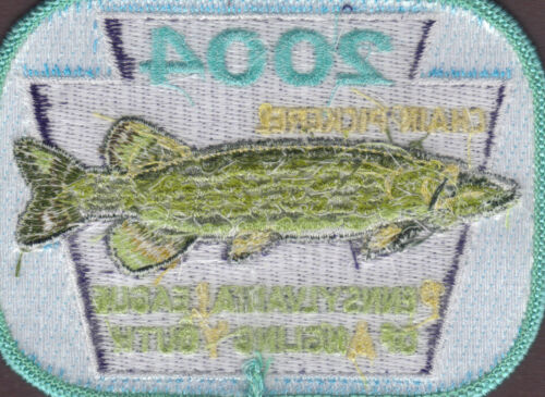 Pa Pennsylvania Fish Game Commission NEW 2004 Chain Pickerel Fishing PLAY Patch