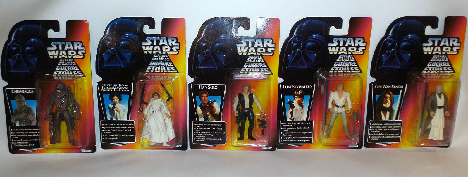 STAR WARS   LUKE SKYWALKER PRINCESS LEIA HAN SOLO CHEWBACCA OBI-WAN (F)