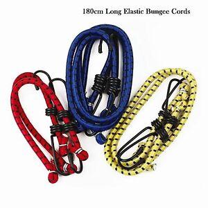 Heavy Duty Bungee Cords Straps Elastic Stretch Hook Luggage Straps Car Bike