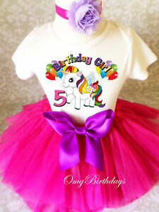 dc93da55e Rainbow Unicorn Birthday Outfit Pink 1st 2 3 4 5 6 7th Girl Tutu ...