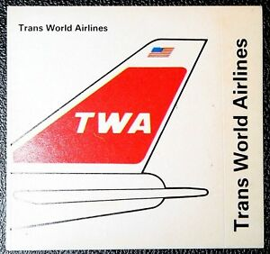 Trans World Airlines  TWA   Tail Fin Colours  Sticker Card # CAT G