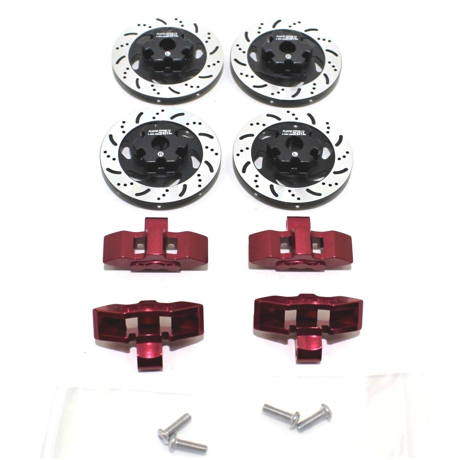 4 piezas de aluminio rojoores De Freno Rojo Pinzas Para Traxxas UDR Unlimited Desert Racer