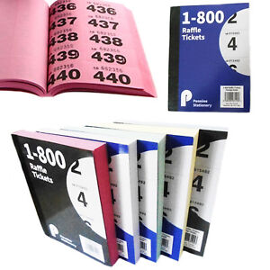 Image Is Loading Raffle Tickets Book 5 Colors Unique Serial Numbers