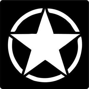 Ww2 Us Army Star Usmc Willys Military Vet Veteran Car Decal Sticker - Us-military-vet