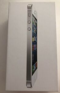 Apple-iPhone-5-White-16gb-BOX-ONLY-with-pamphlets