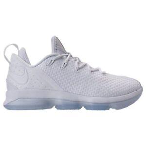 NWOB MEN'S Nike LEBRON XIV 14 Low 878636-101 WHITE/WHITE-ICE Size 10 MSRP 0