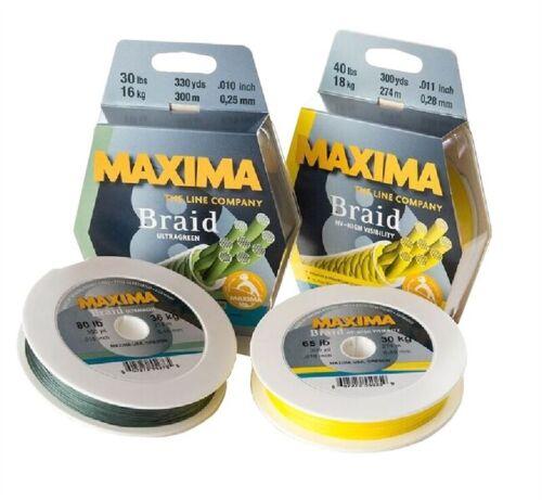 Maxima tresse 300 M Ultra Vert Toutes Les Tailles gros match Prédateur Pêche