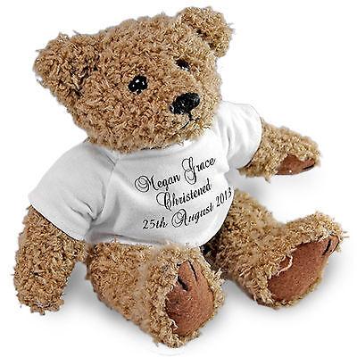 Beautiful Personalised Bear, Gift Wrapped, Christening, Baptism, Naming Day