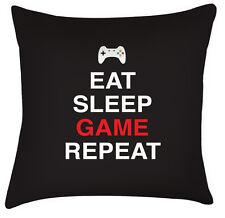 Eat sleep gioco repeat divertente video regalo festa del papà cuscino /