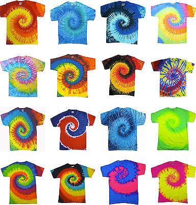 Tie Dye T Shirts New Multi Colors Spiral Variation Hanes sz S M L XL 2XL 3XL