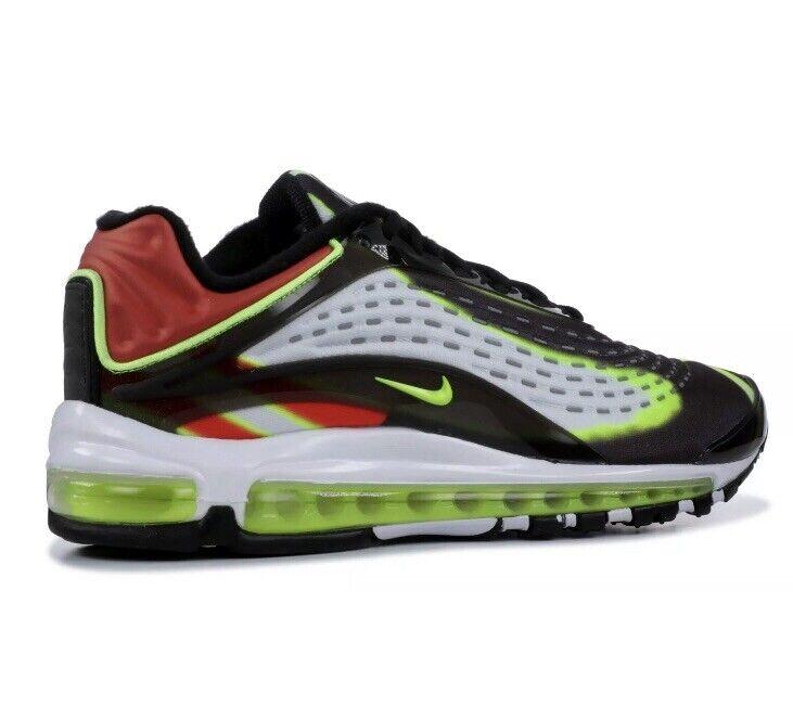 New Nike Men's Men's Men's Air Max Deluxe Black Volt-Habablack Red-White Sz 10 AJ7831-003 NIB fc2ed1