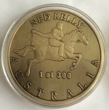 NED KELLY XL COIN Robbery & Murder 1of 300 2015 Rare 65mm Finished 24k 2.3Oz 65g