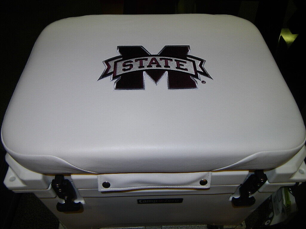 Yeti 35 qt & Others Cooler Cushion White Mississippi State  NEW FREE SHIPPING  factory outlet store