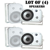 Lot Of (4) Pyle Pdwr50w 6.5 500w Indoor/outdoor Waterproof Speakers (white) on sale