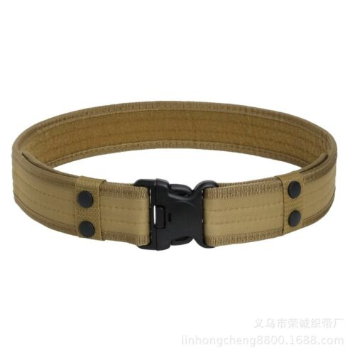 U.S Army Style Combat Belt Quick Release Men Canvas Waistband Outdoor Hunting B