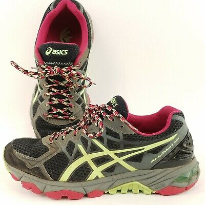 Mareo ejemplo Socialista  Asics Gel-Fuji Trabuco 4 Neutral Running Shoes Women Size 7 Gray Green Red  | eBay