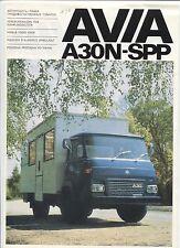 N°8335 / dépliant camion tchecoslovaque  AVIA A30N-SPP
