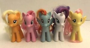 5PC-My-Little-Pony-G4-MLP-lot-Hasbro-Rarity-Pinkie-ponies-brushable-hair