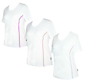 Schneider Sportswear Lydia Damen Kurzarm Shirt Pulli T-Shirt Gr. 40 weiß
