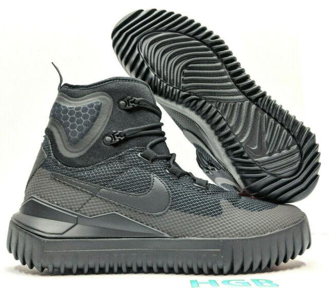 san francisco 305db 96792 Nike Air Wild Mid Mens Triple Black Boots Trail Hiking 916819-001 NIB