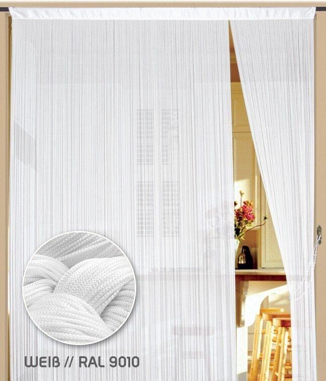Fadenvorhang Vorhang Gardine Kaikoon 500 x 300 cm (BxH) Farbe Weiß