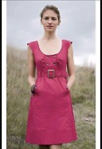 c2e67ca8dc9 Image is loading Anthropologie-Maeve-Overcast-Trench-Jumper-Dress-8-Berry-