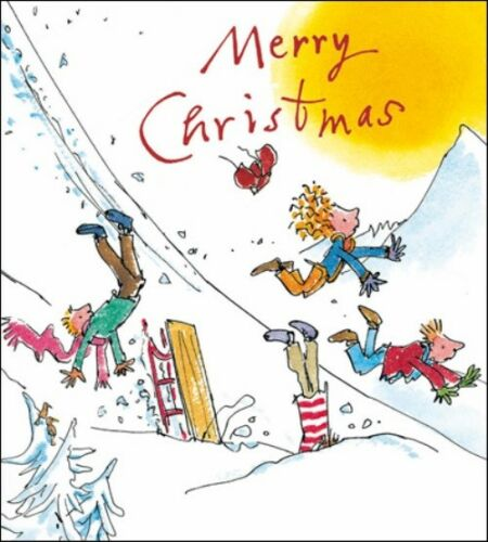 Pack of 5 Quentin Blake Alzheimer/'s Society Charity Christmas Cards Cello Packs
