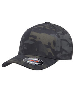 Flexfit MultiCam Military Army Camo 6 Panel Baseball Fitted Cap Hat ... e8399bb79ec