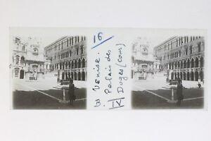 Venezia-Italia-Foto-Stereo-T2L7n6-Placca-Da-Lente-Vintage