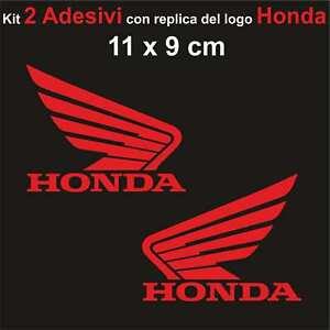 Kit-2-Adesivi-Honda-Moto-Stickers-Adesivo-11-x-9-cm-decalcomania-ROSSO