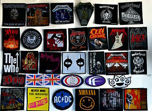 BAND PATCHES patch heavy metal motorhead ac/dc maiden metallica death punch rock