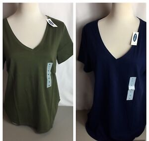 Old-Navy-Women-039-s-V-Neck-T-Shirt-Size-M-L-XXL-In-Blue-amp-Green-NEW