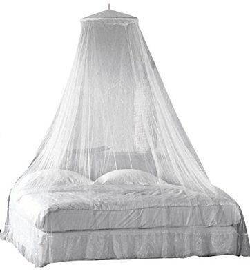 Moustiquaire Lit Couverture Auvent Fly Protection pour lit de taille Queen