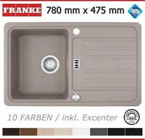 Franke Fragranit Euroform Spüle 78 x 47,5 cm Granit Spülbecken Küche ...
