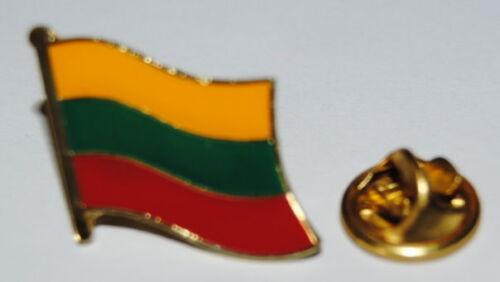 PINS PIN 0224 ANSTECKER METALL LITAUEN LÄNDERPIN BUTTON FAHNE FLAGGE SAMMLER NEU