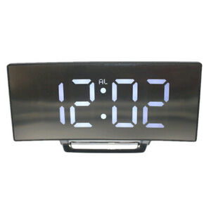 Alarm-Clock-Digital-LED-Display-Battery-Operated-Mirror-Surface-w-Night-Light