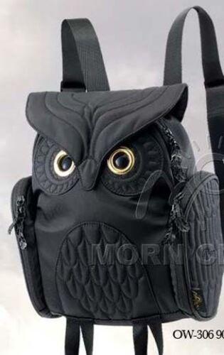 Owl ladies BLACK 3D backpack MORN CREATIONS Small bag legend