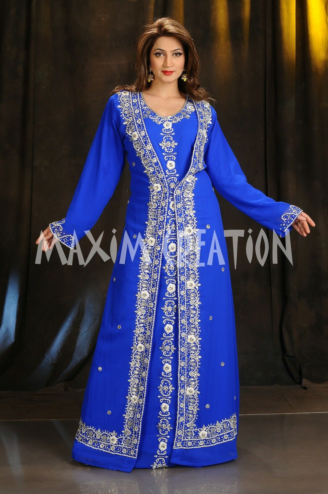 EXCLUSIVE MgoldCCAN CAFTAN JILBAB JALABIYA MODERN FANCY WEDDING GOWN THOBE 4370
