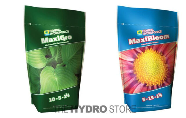 General Hydroponics MaxiGro & MaxiBloom 2 2 LBS Combo - GH Dry  Micronutrients
