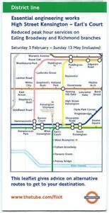 LONDON-TRANSPORT-UNDERGROUND-Map-folded-leaflet-2001-DISTRICT-LINE-engineering