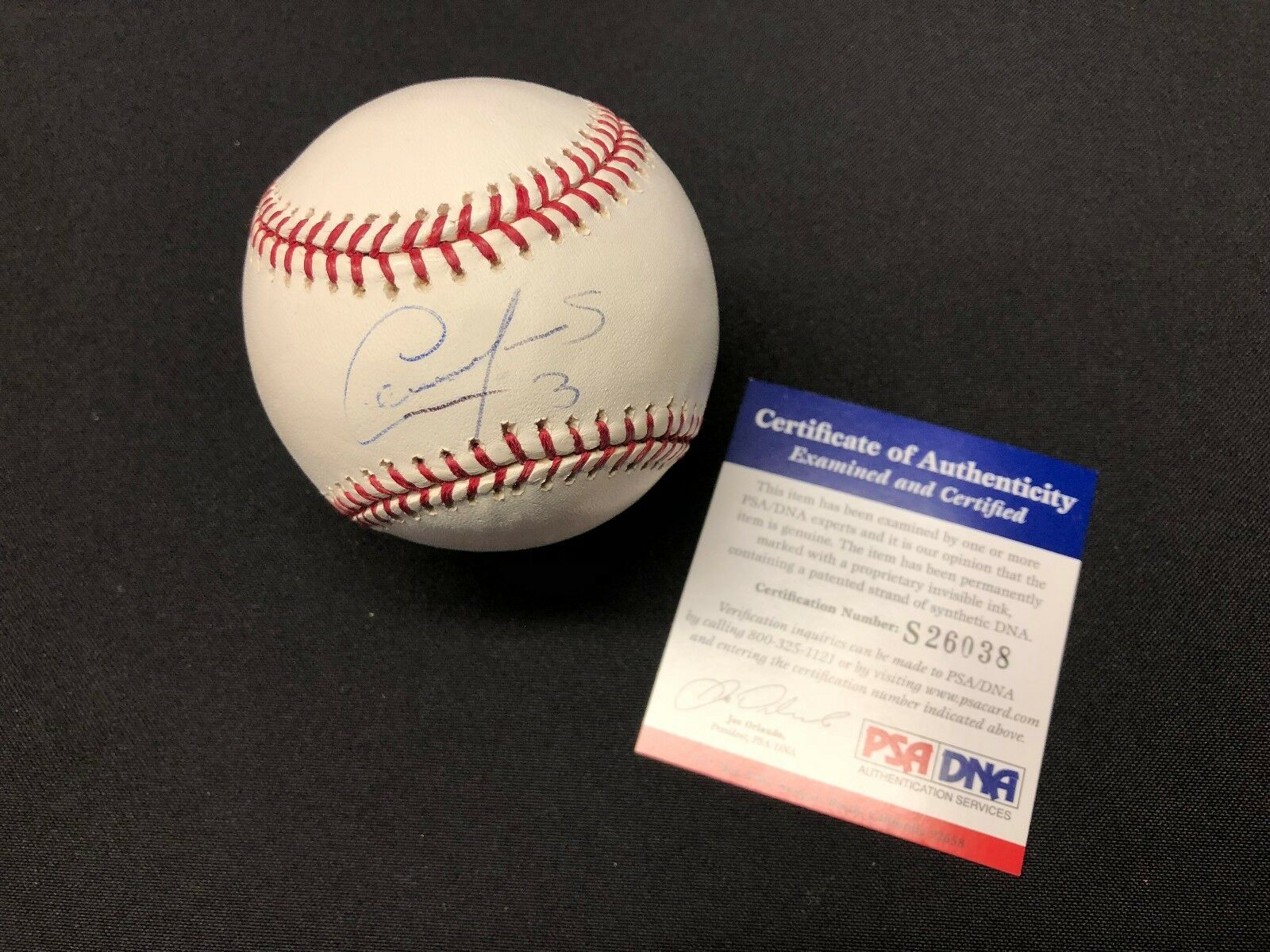 Cesar Izturis Signed Major League Baseball MLB *Dodgers *Cubs PSA S26038