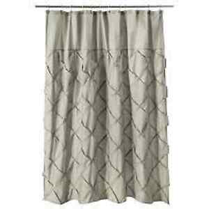 Image Is Loading Threshold WHITE Pintuck Shower Curtain New Not In