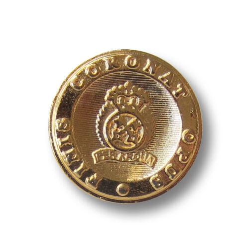 5 elegante glänzend goldfb Blazer Metall Knöpfe mit Wappen 3621go