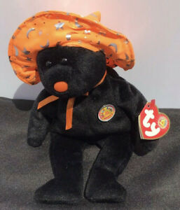 """TY Beanie Baby  POCUS the Halloween Bear 8.5"""" (Beanie Baby of the Month)"""
