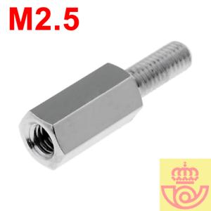 lote-5pcs-Separador-Hexagonal-M-H-de-laton-niquel-M2-5-10mm-Arduino