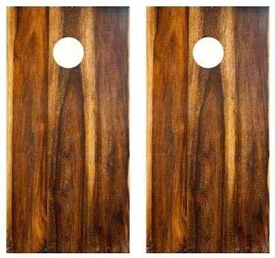 His Hole Her Hole Barnwood Cornhole Board Wraps FREE SQUEEGEE #3250