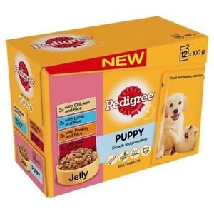 Pedigree-Puppy-Wet-Food-With-Meat-Selection-In-Jelly-12-x-100g-Pouches-Jelly